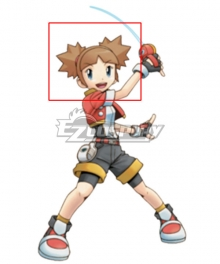 Pokémon Pokemon Ranger: Shadows of Almia Kellyn Kate Brown Cosplay Wig