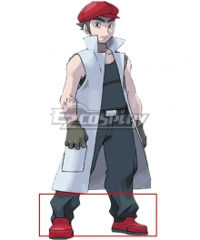 Pokemon Factory Head Noland Red Cosplay Shoes