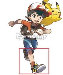 Pokemon Pokémon: Let's Go, Pikachu! Pokémon: Let's Go, Eevee! Male Trainer Chase Black Cosplay Shoes