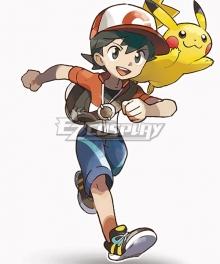 Pokemon Pokémon: Let's Go, Pikachu! Pokémon: Let's Go, Eevee! Male Trainer Chase Cosplay Costume