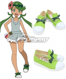 Pokemon Pokémon Sun and Moon Mallow Green Cosplay Shoes
