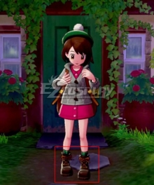 Pokemon Pokémon Sword and Pokémon Shield Female Trainer Brown Cosplay Shoes