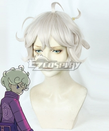 Pokemon Pokémon Sword And Shield Bede White Grey Cosplay Wig