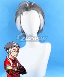 Pokemon Pokémon Sword And Shield Kabu Grey White Cosplay Wig