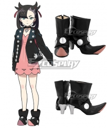 Pokemon Pokémon Sword And Shield Marnie Black Cosplay Shoes