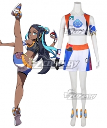 Pokemon Pokémon Sword and Shield Nessa Cosplay Costume