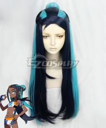 Pokemon Pokémon Sword And Shield Nessa Deep Blue Cosplay Wig