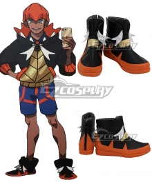 Pokemon Pokémon Sword And Shield Raihan Red Black White Cosplay Shoes
