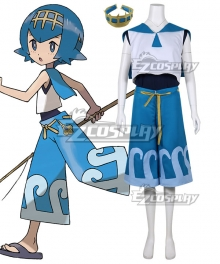 Pokemon Sun and Moon Lana Cosplay Costume