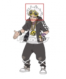 Pokemon Sun and Moon Team Skull Guzma White Cosplay Wig