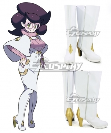 Pokemon Sun And Moon Wicke White Shoes Cosplay Boots