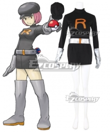 Pokemon Team Rocket Grunt Female Cosplay Costume - A Edition