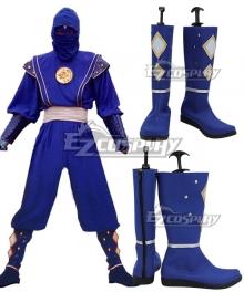 Power Rangers Blue Ninjetti Ranger Blue Cosplay Shoes