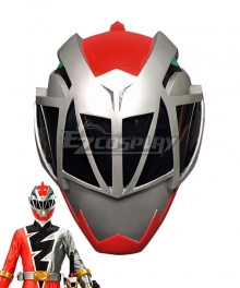 Power Rangers Dino Fury Red Ranger Helmet Cosplay Accessory Prop