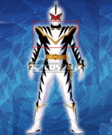Power Rangers Dino Thunder White Dino Ranger Armor Cosplay Accessory Prop