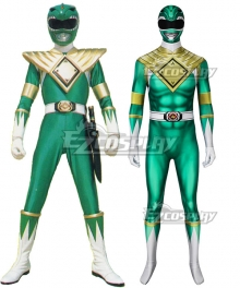 Mighty Morphin Power Rangers Green Ranger Zentai Jumpsuit Cosplay Costume