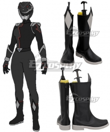 Power Rangers HyperForce HyperForce Black Black Shoes Cosplay Boots