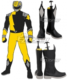 Power Rangers HyperForce HyperForce Yellow Black Shoes Cosplay Boots
