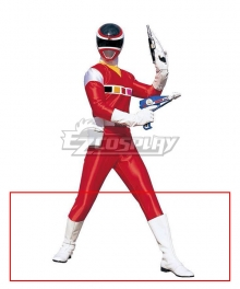 Power Rangers In Space Red Black Blue Yellow Pink Space Ranger White Shoes Cosplay Boots