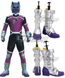 Power Rangers Jungle Fury Jungle Fury Wolf Ranger Purple Cosplay Shoes