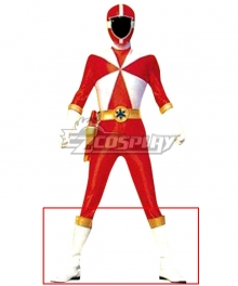 Power Rangers Lightspeed Rescue Lightspeed Ranger White Shoes Cosplay Boots