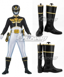 Power Rangers Megaforce Megaforce Black Black Shoes Cosplay Boots