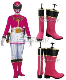 Power Rangers Megaforce Megaforce Pink Pink Shoes Cosplay Boots