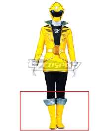 Power Rangers Super Megaforce Super Megaforce Yellow Yellow Shoes Cosplay Boots