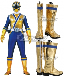 Power Rangers Ninja Steel Ninja Steel Gold White Shoes Cosplay Boots