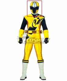 Power Rangers Ninja Steel Ninja Steel Yellow Helmet Cosplay Accessory Prop