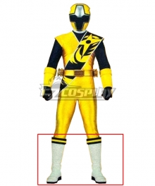 Power Rangers Ninja Steel Ninja Steel Yellow White Shoes Cosplay Boots