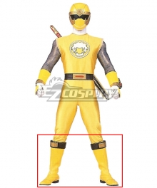 Power Rangers Ninja Storm Yellow Wind Ranger Yellow Shoes Cosplay Boots