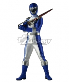 Power Rangers Operation Overdrive Blue Overdrive Ranger Cosplay Costume