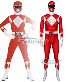 Mighty Morphin Power Rangers Red Ranger Zentai Jumpsuit Cosplay Costume