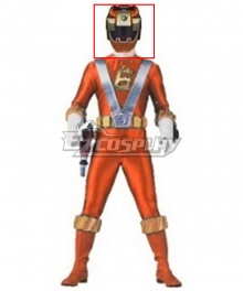 Power Rangers RPM Ranger Operator Series Orange Helmet Cosplay Accessory Prop