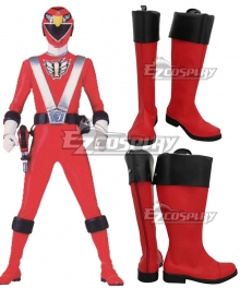 Power Rangers RPM Ranger Operator Series Red Red Shoes Cosplay Boots