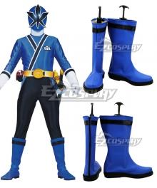 Power Rangers Samurai Blue Samurai Ranger Blue Shoes Cosplay Boots