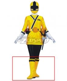 Power Rangers Samurai Yellow Samurai Ranger Yellow Shoes Cosplay Boots