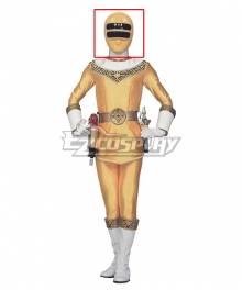 Power Rangers Zeo Ranger II Yellow Helmet Cosplay Accessory Prop