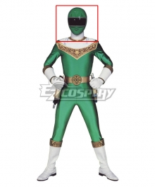 Power Rangers Zeo Ranger IV Green Helmet Cosplay Accessory Prop
