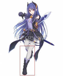 Princess Connect! Re:Dive Rei Shijo Black Shoes Cosplay Boots