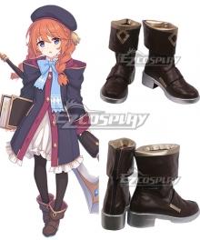Princess Connect! Re:Dive Yuni Shingyoji Brown Cosplay Shoes