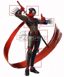 Project X Zone Shinobi Hotsuma Full Armor Cosplay Accessory Prop