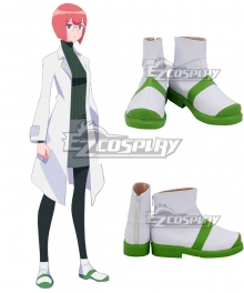 PROMARE Heris Ardebit Green White Cosplay Shoes