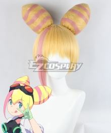 PROMARE Lucia Fex Yellow Pink Cosplay Wig