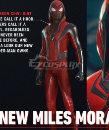 PS5 Marvel 2021 Spider-Man: Miles Morales Red Cosplay Costume