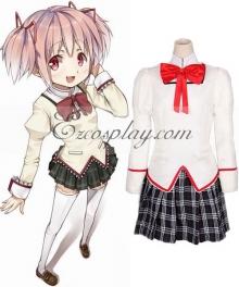 Puella Magi Madoka Magica Kaname School Uniform Cosplay Costume