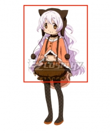 Puella Magi Madoka Magica the Movie: Rebellion Nagisa Momoe Charlotte Bebe White Cosplay Wig