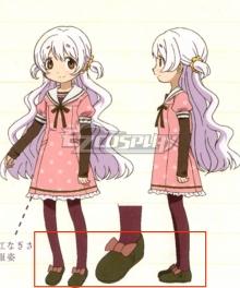 Puella Magi Madoka Magica the Movie: Rebellion Nagisa Momoe Charlotte Bebe Brown Cosplay Shoes