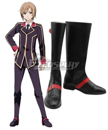 Qualidea Code Ichiya Suzaku Black Shoes Cosplay Boots